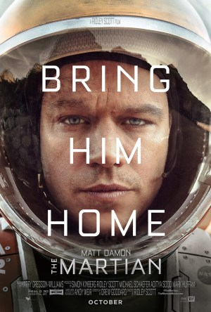 The movie, starring Matt Damon, hits the big screen on October 2nd.