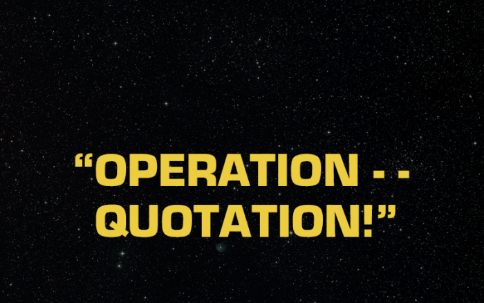 Operation Quotation