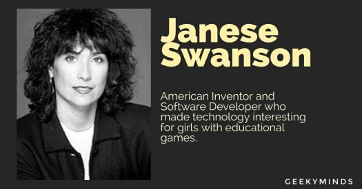 Janese Swanson - American Inventor and Software Developer - was a great woman of computer science - GeekyMinds