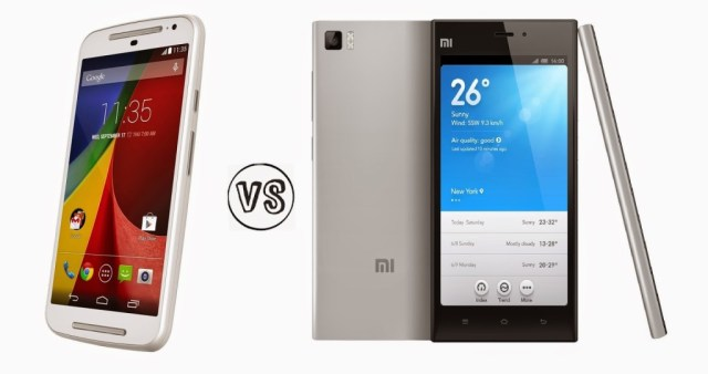 Xiaomi Mi 3 vs Moto G 2nd Generation