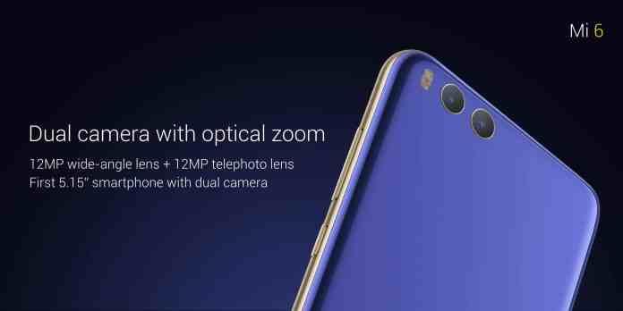 Xiaomi Mi 6 Dual camera
