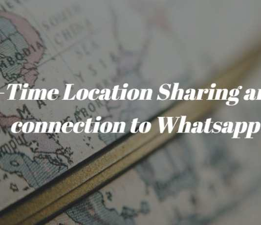 location sharing with whatsapp