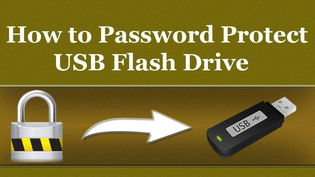 How To Password Protect A Usb Flash Drive - Geekyswap