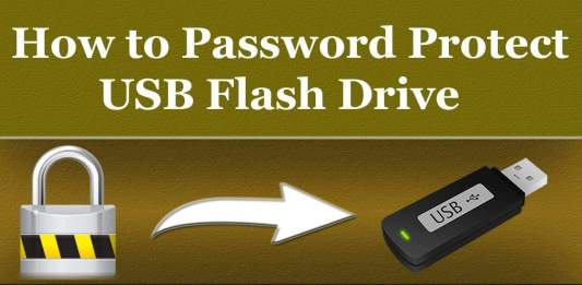 How to password protect a USB flash drive