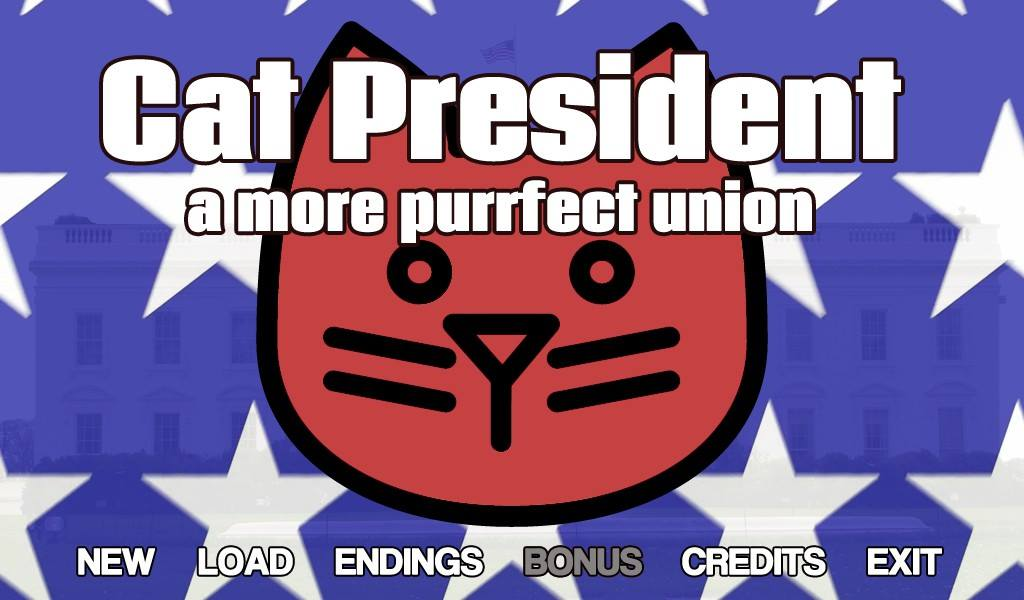 Cat President - a More Purrfect Union - Visual Novel PC Game Review