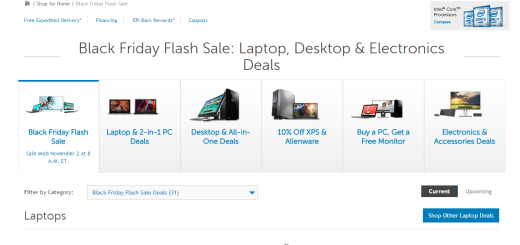 Black Friday Sales at Dell for Gaming Laptops