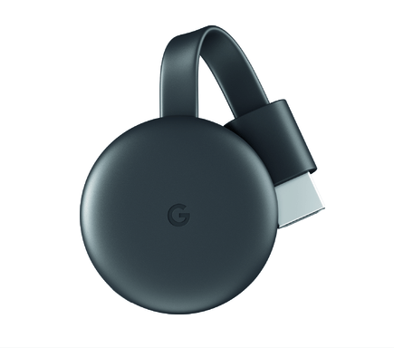 Google Chromecast Streaming Media Player. See It. Stream It.