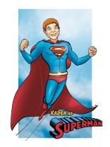 A client as Superman, Digital Color Commission
