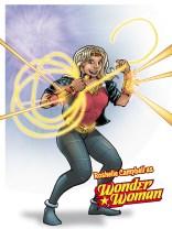A client as Wonder Woman