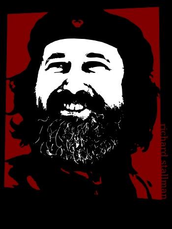 ¿Richard Guevara?, no, para nada, se trata de una equiparación entre el Che Guevara y Richard Stallman por su socialismo informático (aunque a muchos les asuste este término).
