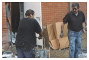 De bouw van onze zaal - Nooddeur - 't Geels Volkstoneel