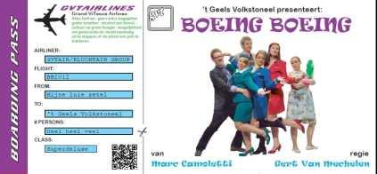 Boeing Boeing uitnodiging