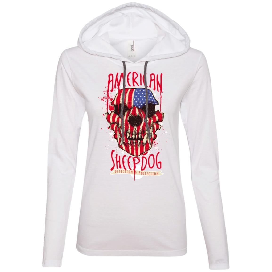 American Sheepdog Anvil Ladies' LS T-Shirt Hoodie