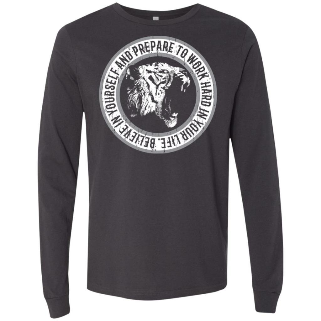 Believe in Yourself Bella + Canvas Men's Jersey LS T-Shirt