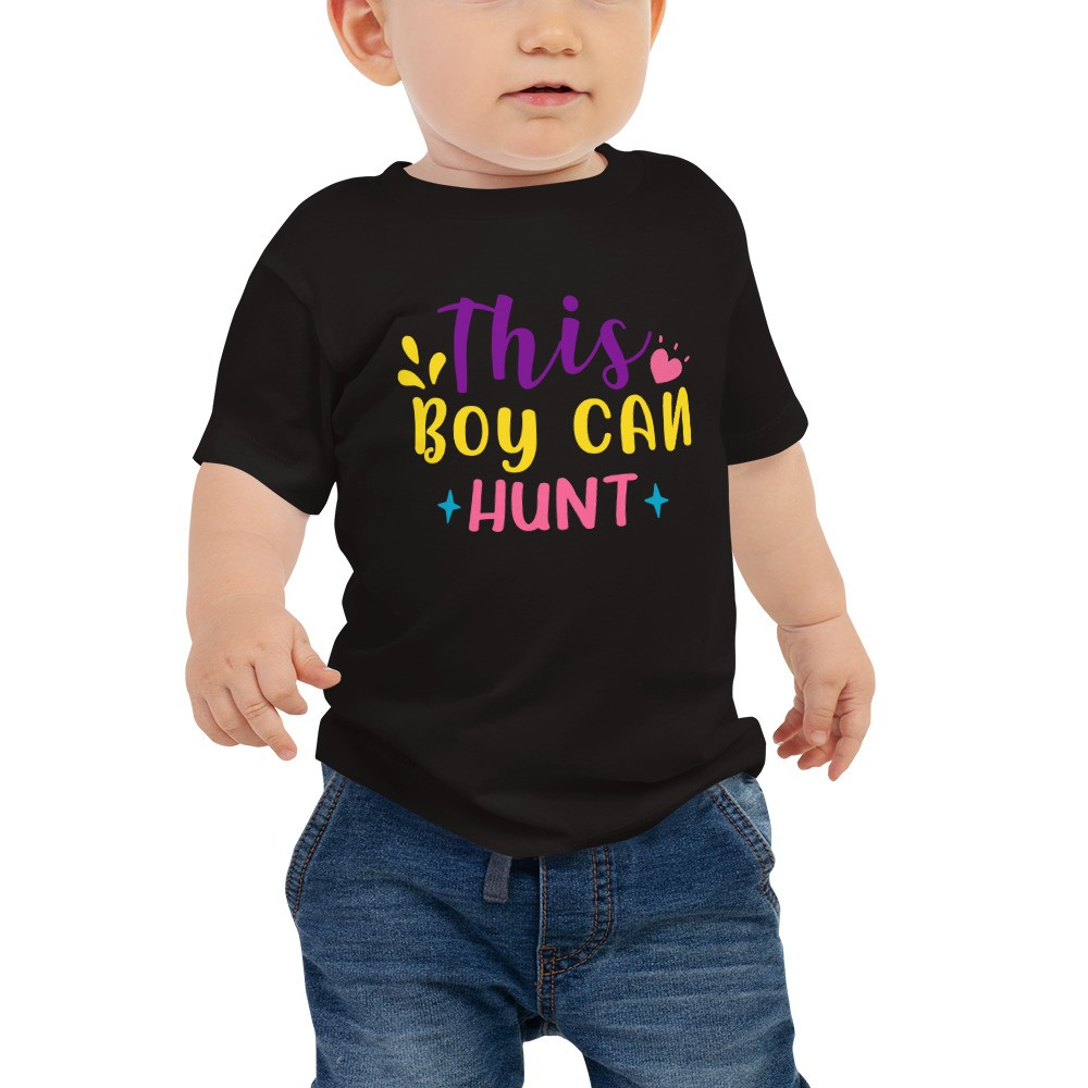 Easter - This Boy Can Hunt Baby Jersey Short Sleeve Tee