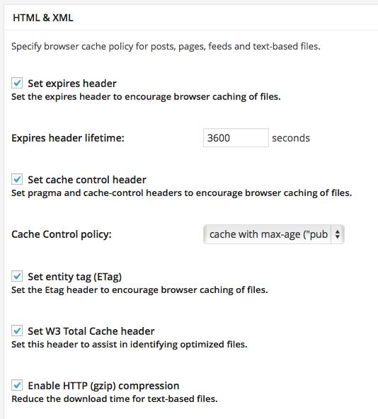 ブラウザキャッシュのHTML,XML設定
