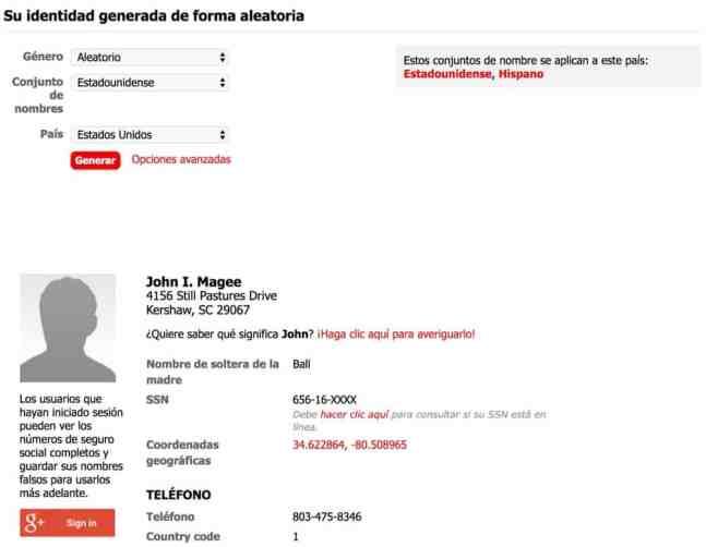 Generador de nombres falsos