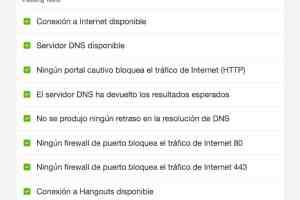 test de conexion a internet