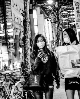 Tokyo and Kyoto Streets in Black and White