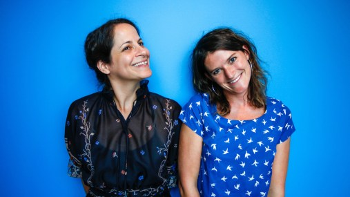 Invisibilia creators and co-hosts Alix Spiegel and Lulu Miller (l to r).
