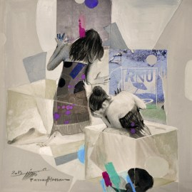 Woman in Glass Boxes 27