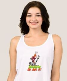 Zazzle T-shirt Female Stationary Bike