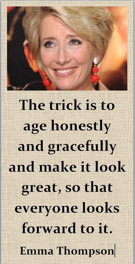 Emma Thompson on aging