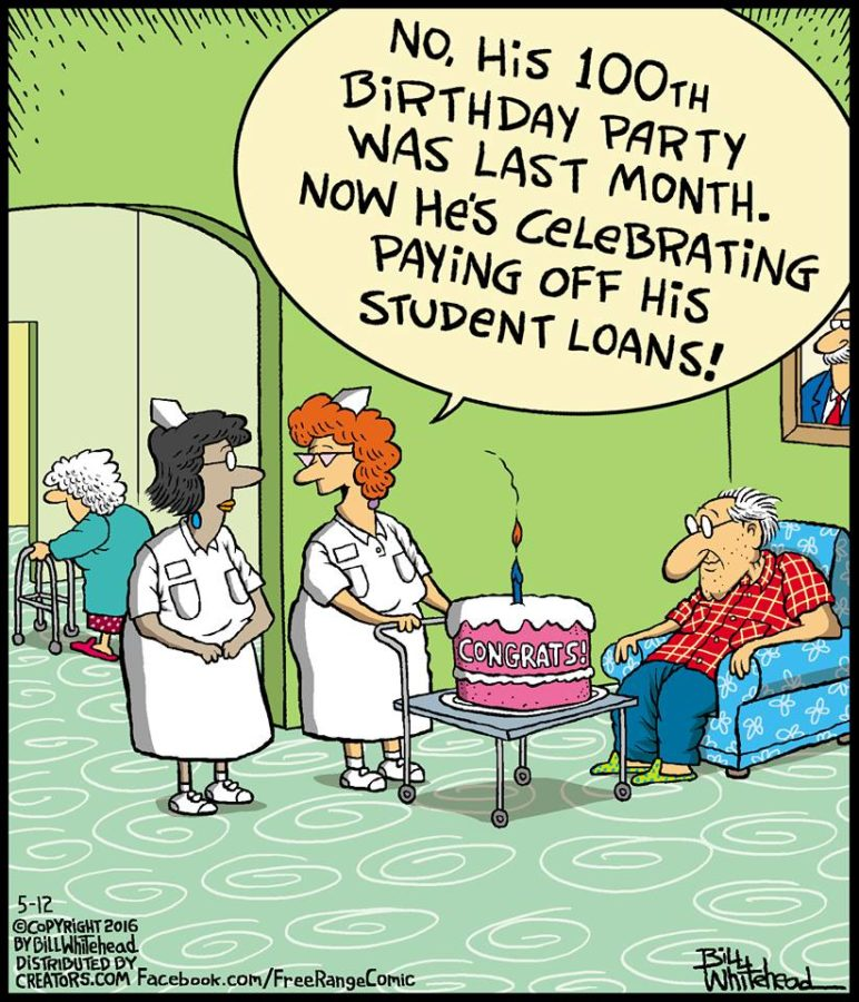 Paying off student loanat last