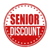 Senior discount sign