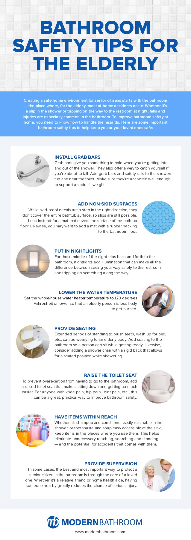 Infographic bathroom safety tips for seniors geezer guff for How to make bathroom safe for elderly