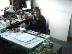 at the drawing board