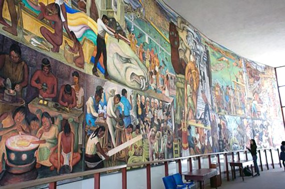CCSF Rivera Mural from north