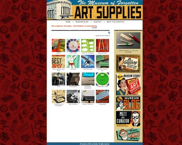 Museum of Forgotten Art Supplies Collection