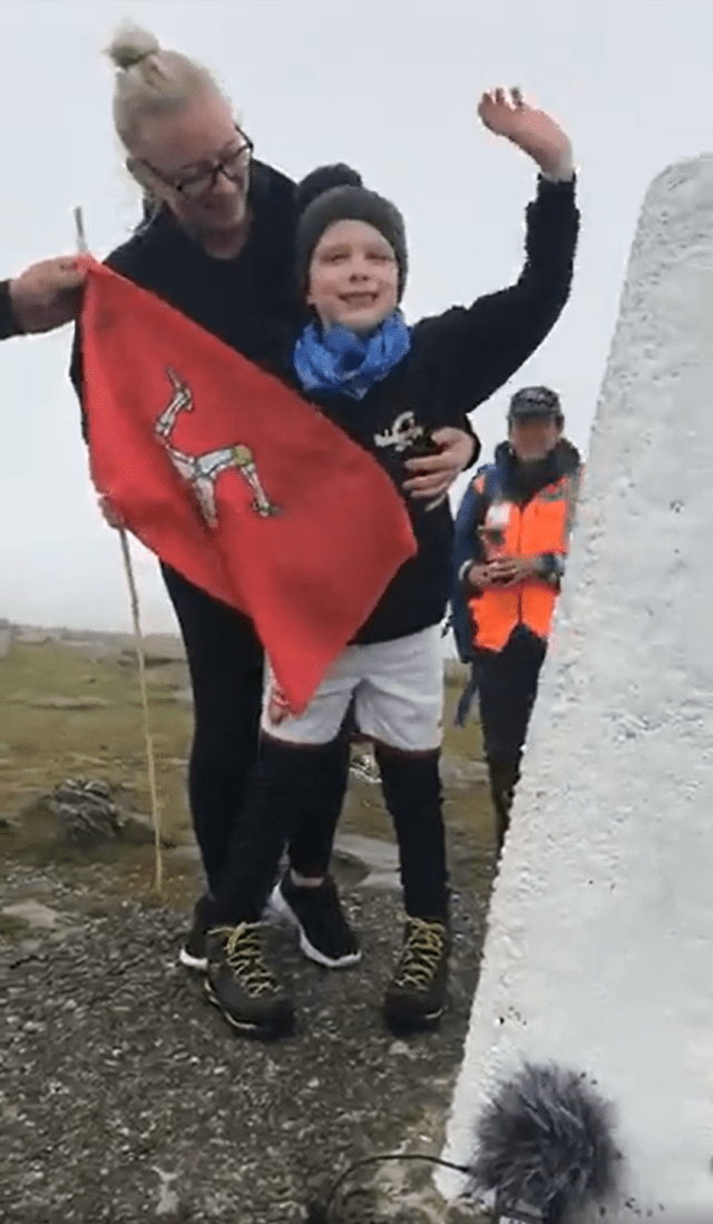 - If you drove along the mountain road yesterday morning, it's likely that you noticed the events of Dylan's Day. People from all over the island came out to support 8-year-old Dylan Walton as he climbed Snaefell to raise money for a new playground at Rebecca House. After messages of support from figures like the Chief Minister, Lieutenant Governor and race walker Erika Kelly, Dylan completed his 'mountainous' effort by walking 414m around the NSC racetrack before a police escort to the Bungalow where Dylan completed the climb up to the very top of the 620m high mountain. Dylan, who has Periventricular Leucomalacia, meaning he has conditions such as Cerebral Palsy and Epilepsy, has raised over £9,520 for the cause on his Just Giving page, which you can still donate to here.Dylan has definitely done the whole island proud and the money he has raised will make such a big difference for the charity which helps families like Dylan's every day. Thank you to everyone who helped Dylan for all your hard work and of course congratulations to the amazing boy himself.