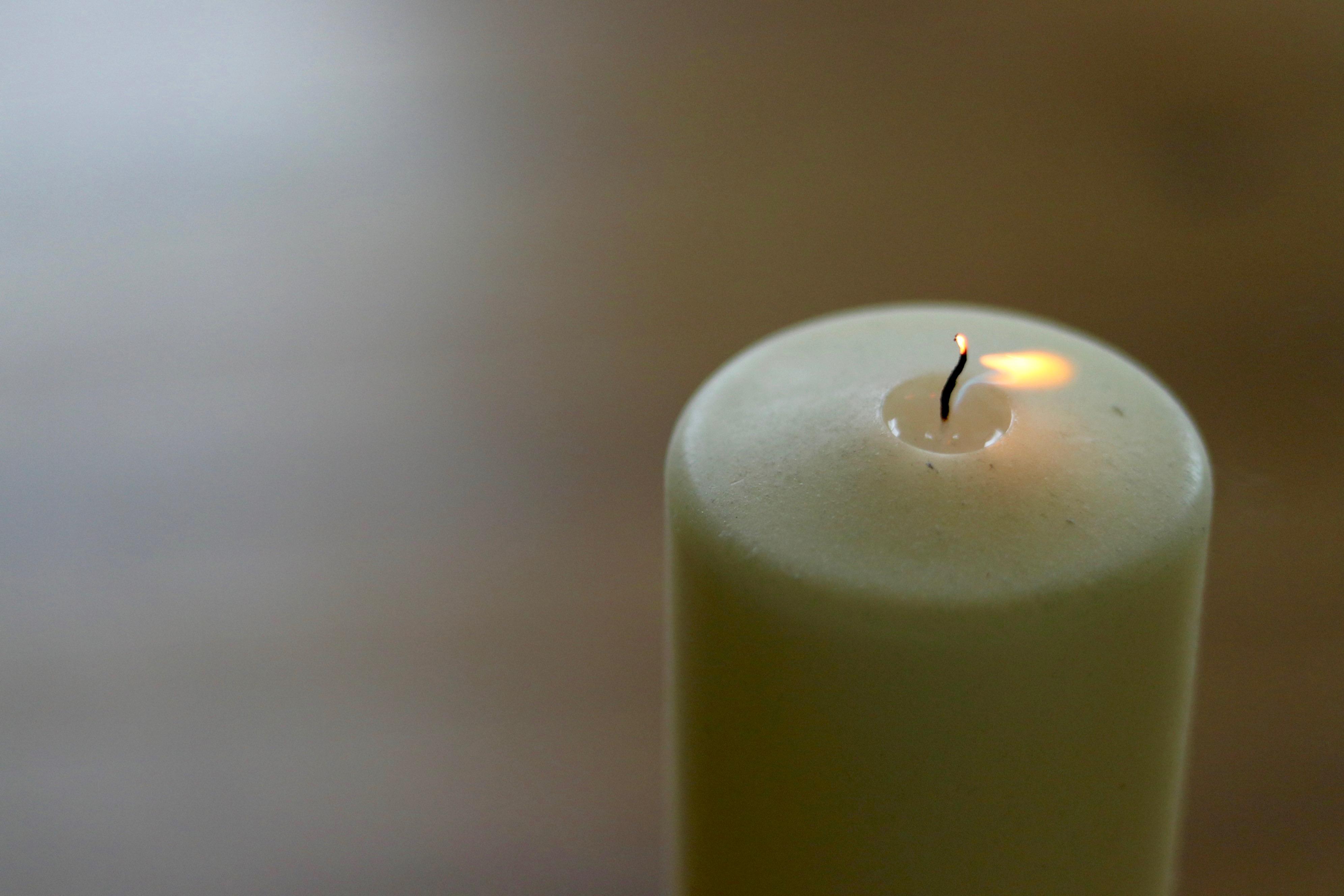 ausgebrannte Kerze