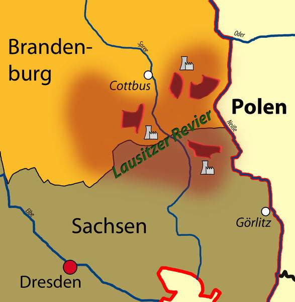 Vattenfall in der Lausitz