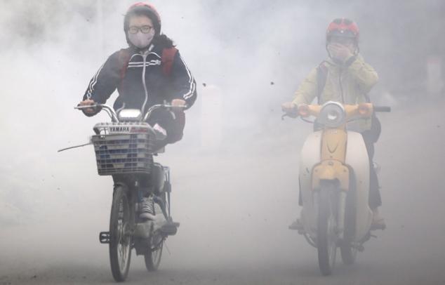 Luftverschmutzung-Smogalarm