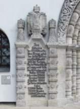 Gedenktafel auf Deutsch