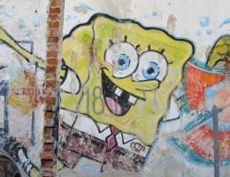 SpongeBob an der Wand