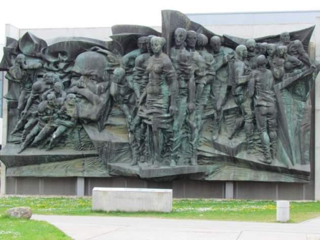 Marx-Relief in der DHfK