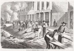 Holzpflasterarbeiten in Saint Louis (Archiv André König)