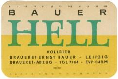 Altes Etikett von Bauer