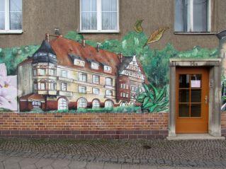 Die Mockauer Post als Graffito in der Kieler Straße
