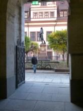 Blick aus dem Handelshof