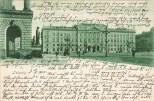 Hauptpost auf einer Postkarte im Jahr 1900