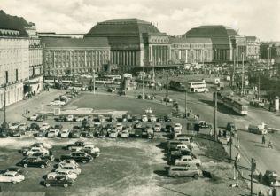 Postkarte Hauptbahnhof, 1960er Jahre