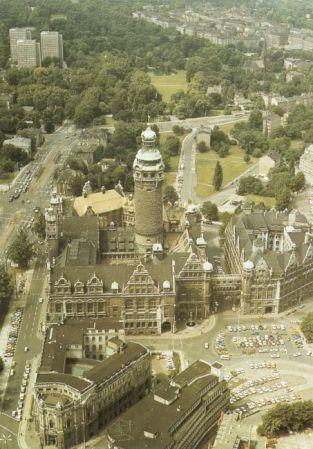 Postkarte Neues Rathaus, 1980er Jahre