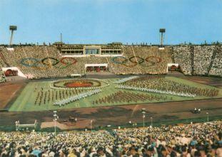 Postkarte Zentralstadion, 1970er Jahre
