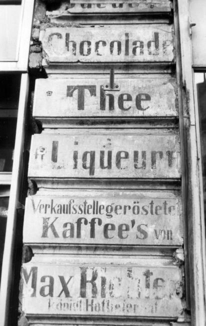 Chocolade, Thee usw., Dresdner Straße
