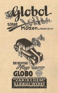 Globo(l)-Anzeige von 1950